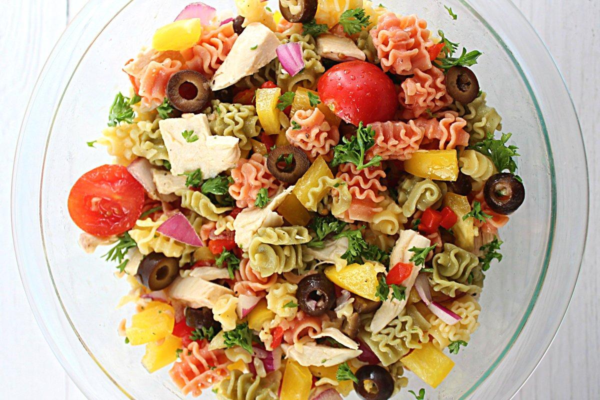 Quinoa Pasta Salad with Roasted Chicken