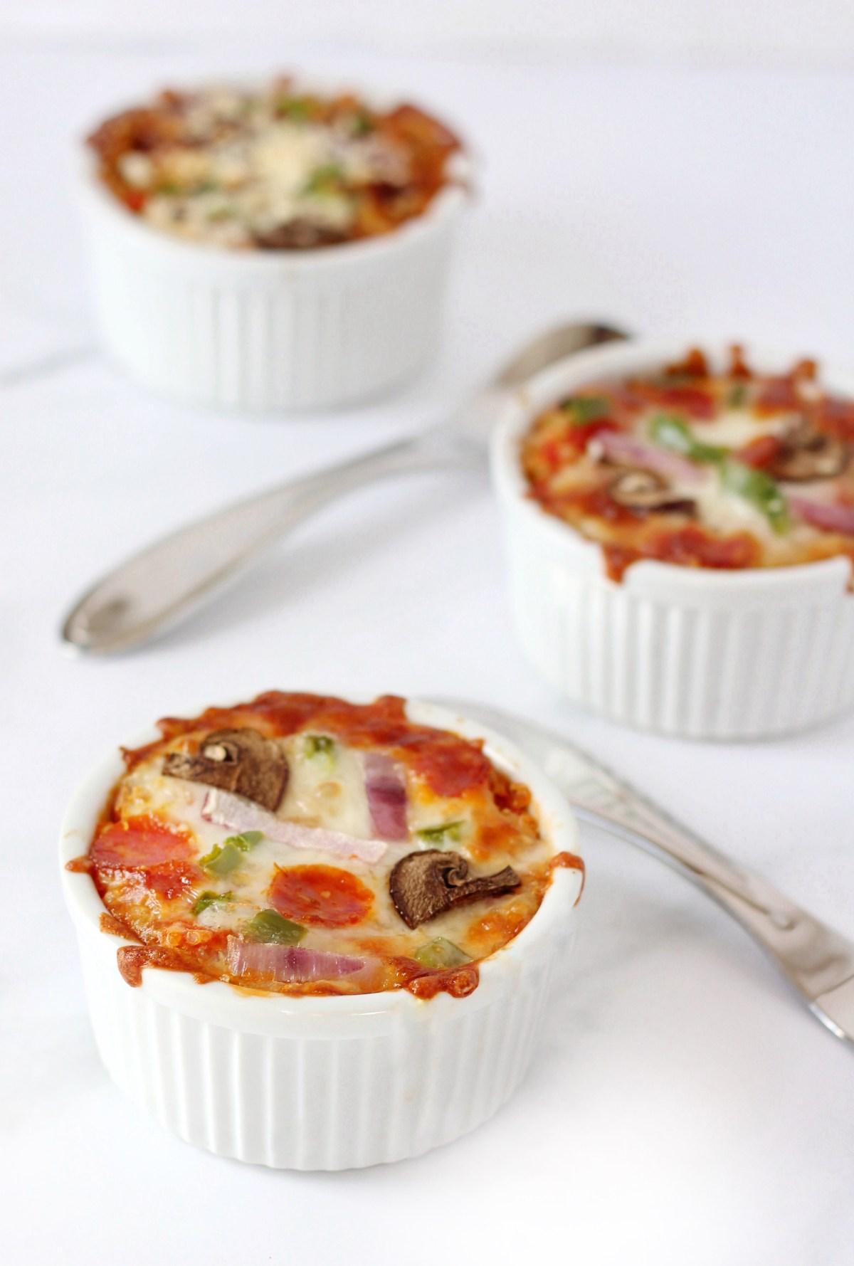 Healthy Pizza Alternative: Quinoa Pizza Bowls.