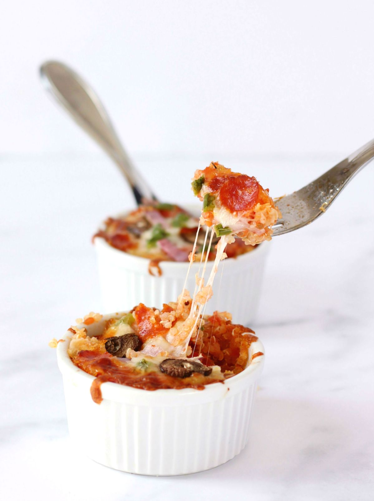 Healthy Alternative to Pizza: Gluten-Free Quinoa Pizza Bowls.