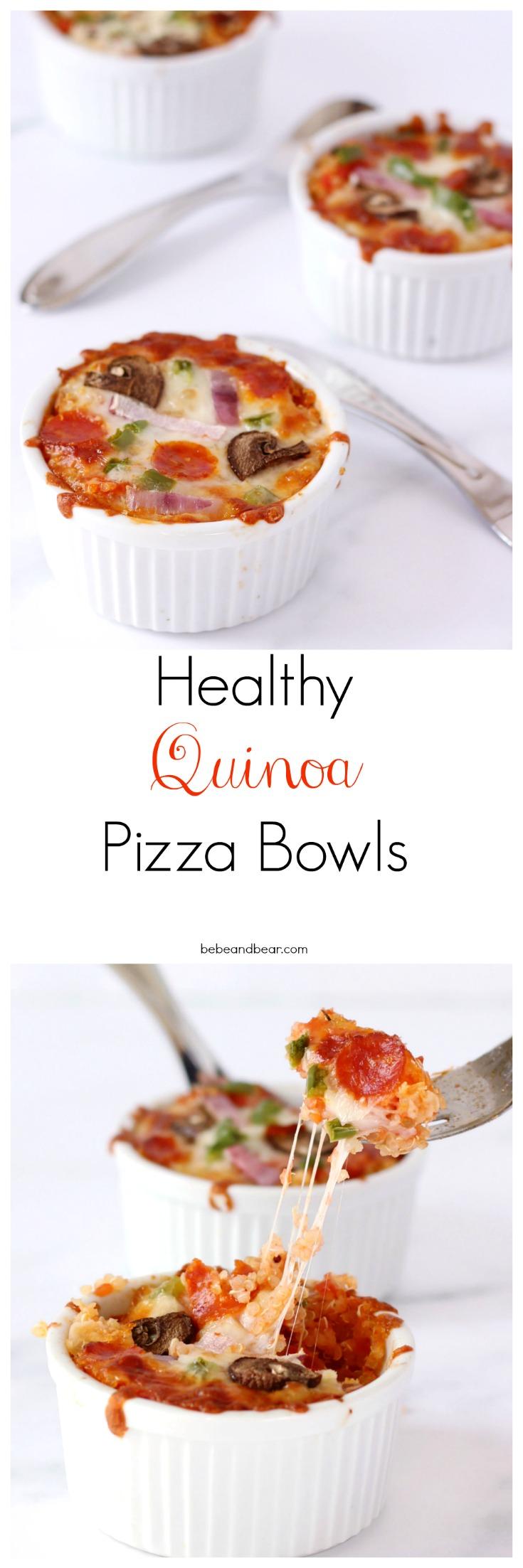 Healthy Alternative to pizza: Quinoa Pizza Bowls. Gluten-free.