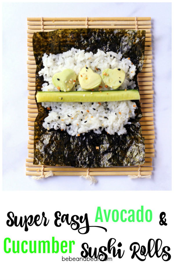 How to make easy cucumber and avocado sushi rolls.