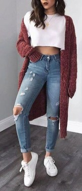 Casual And Stylish Fall School Outfits Ideas For Teens 38