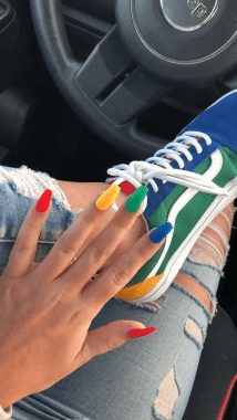 Cute Spring Nail Design Ideas With Bright Colour 20 1