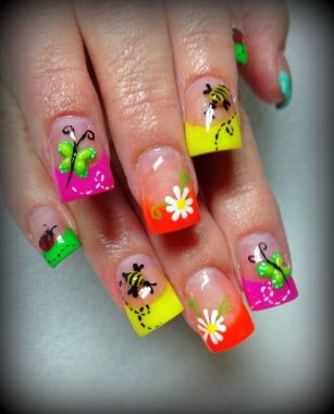 Cute Spring Nail Design Ideas With Bright Colour 32 1