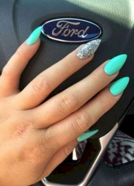 Cute Summer Nail Almond Design And Colours 03