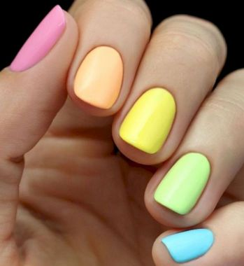 Cute Summer Nail Almond Design And Colours 08