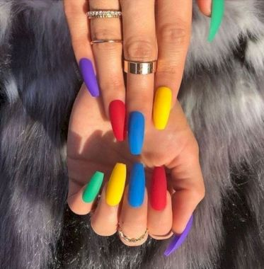 Cute Summer Nail Almond Design And Colours 12
