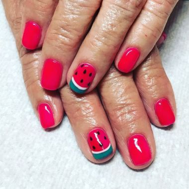 Cute Summer Nail Almond Design And Colours 21 1