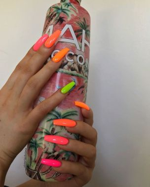 Cute Summer Nail Almond Design And Colours 38 1
