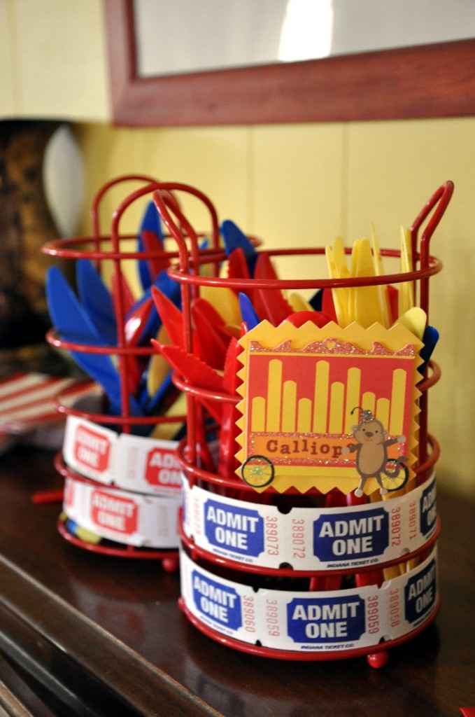 Evans First Birthday Circus Party Decorations