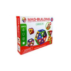 Joc Magnetic Educativ ( 20 piese)- Mag-Building
