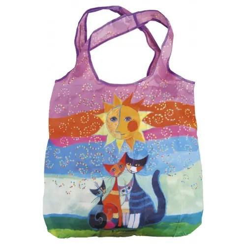 Sacoșă textil Rosina Wachtmeister, Fridolin Germania, , accesorii copii, idee cadou fete, sacosa plic copii, sacosa textila cu capsa, sacosa copii pisici