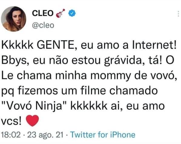 Cleo Pires denied the pregnancy rumors