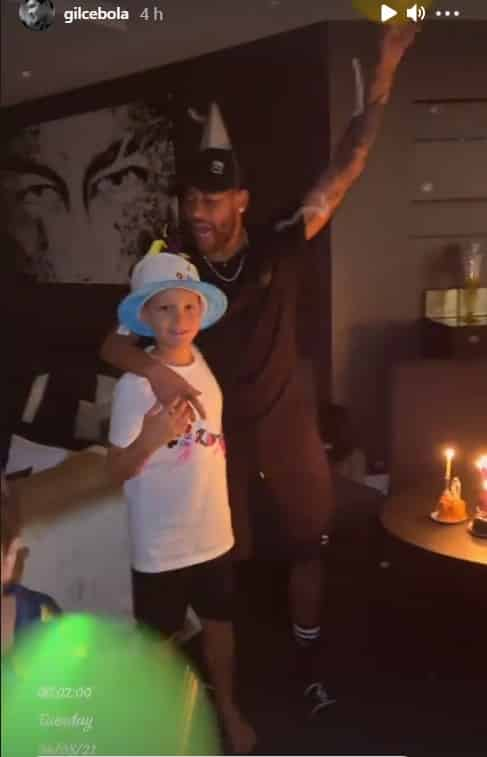 Neymar on his son's birthday at his mansion