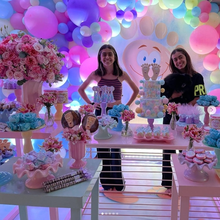 Giovanna Antonelli's daughters celebrating her birthday