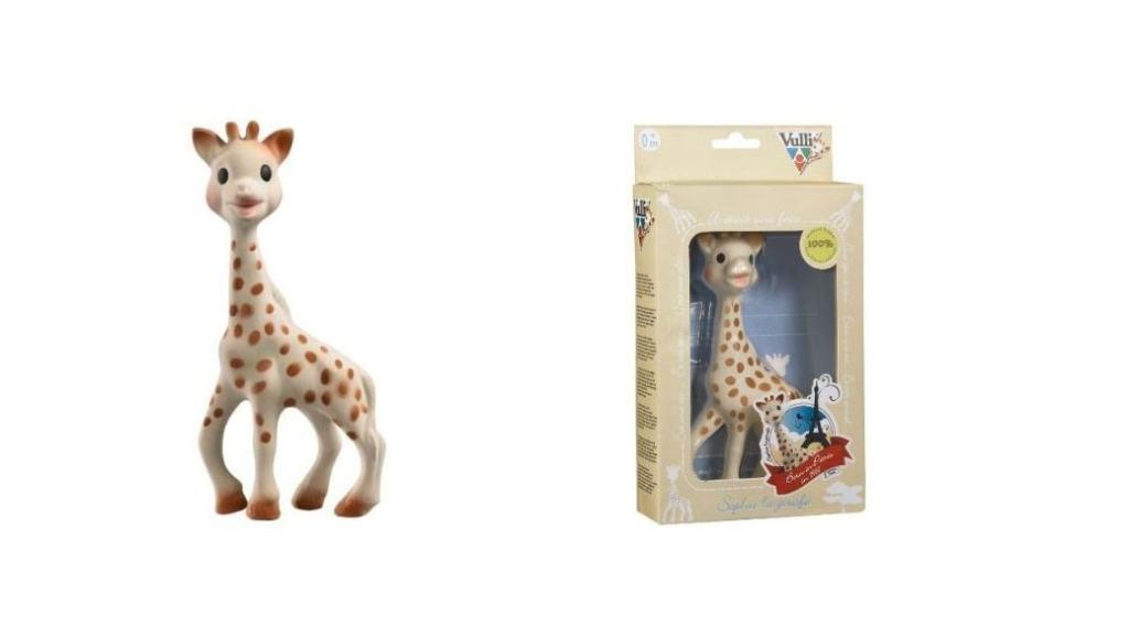mordedor para bebés: jirafa
