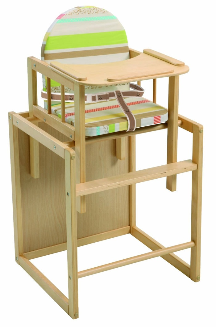 2 tronas de beb baratas de madera y convertibles - Tronas de mesa para bebes ...