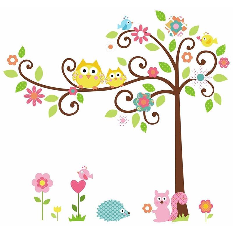 RoomMates Vinilos - Pegatinas para pared con diseño de árbol y animales