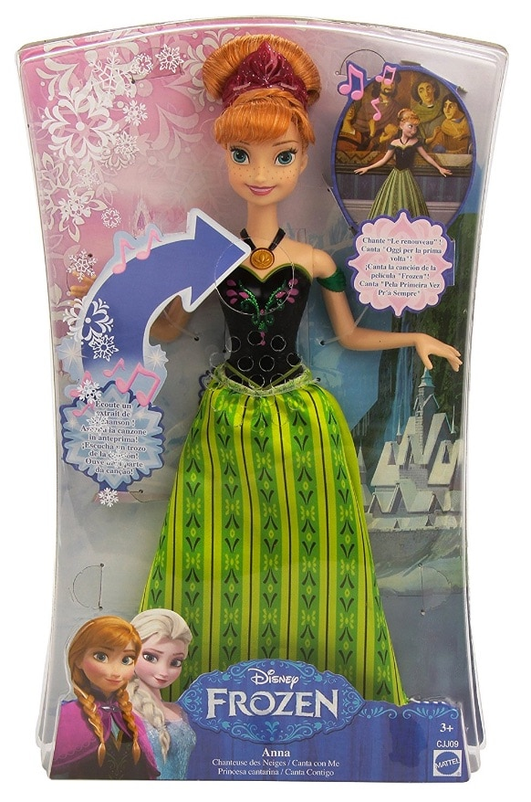 Frozen - Muñeca Anna, princesa cantarina, 33 cm (Mattel CJJ09)