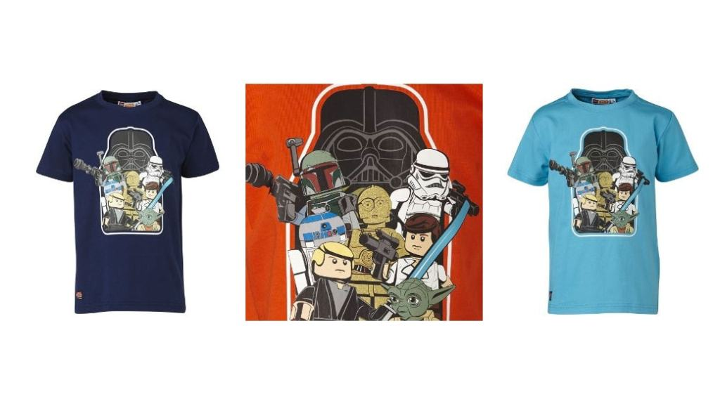 Camisetas de LEGO Star Wars o Batman para niños