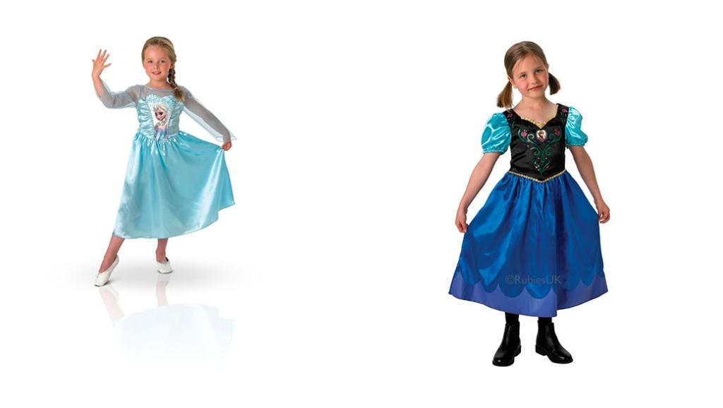 Disfraces de Elsa y Anna (Frozen) por menos de 25 euros