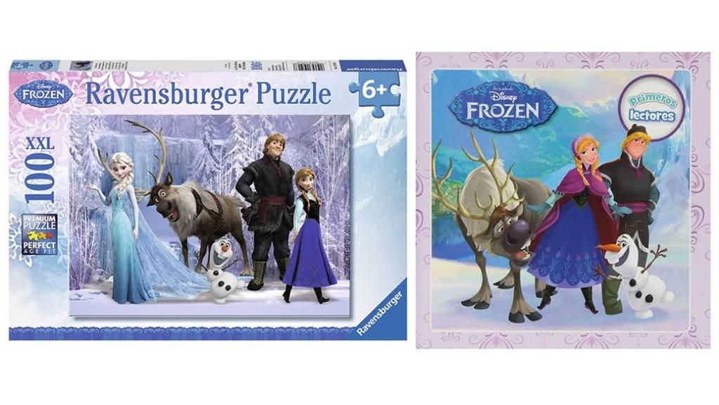 Especial Frozen: Puzzles y libros de la película de Disney por unos 10 euros o menos