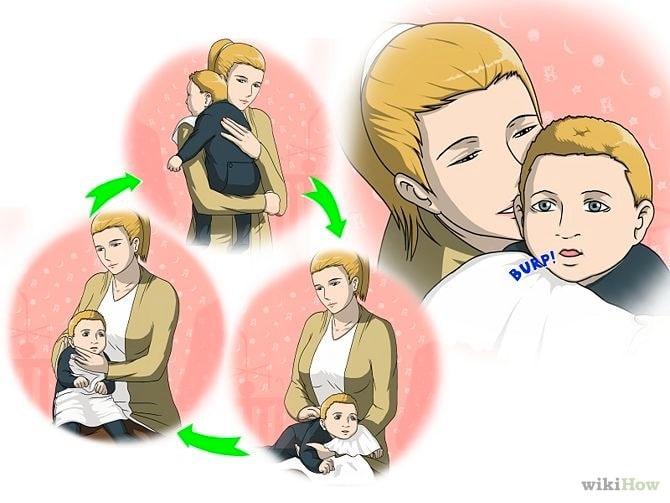 Cómo podemos hacer eructar a un bebé