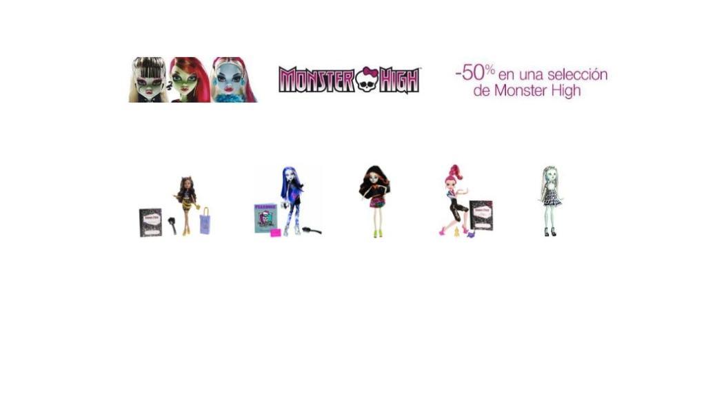 Las muñecas Monster High en promoción: 50% de descuento