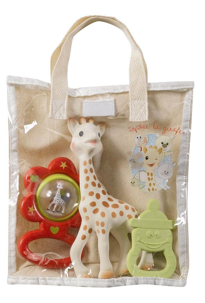 La jirafa Sophie, un mordedor y un sonajero por unos 15 euros