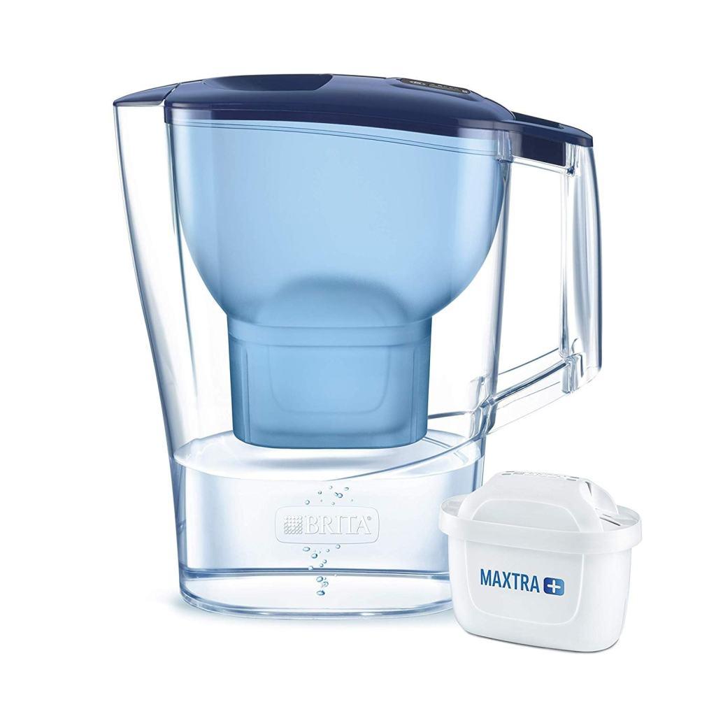 BRITA Aluna Jarra 1 Cartucho MAXTRA+, Filtro Reduce la Cal y el Cloro, Agua Filtrada para un Sabor Óptimo