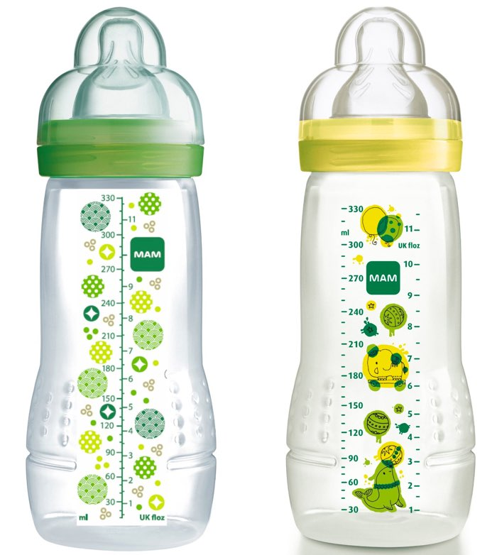 Mam Babyartikel 99950502 - 2 Biberónes de 330ml, 4+ meses