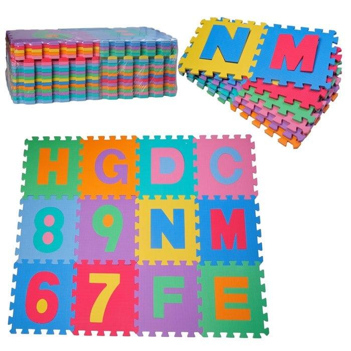 Alfombra puzzle con el alfabeto de goma Espuma