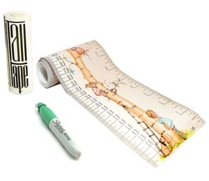 Talltape: Centimetro de pared portátil, enrollable