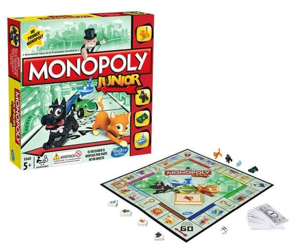 Los 4 mejores juegos de mesa para niños: monopoly Junior