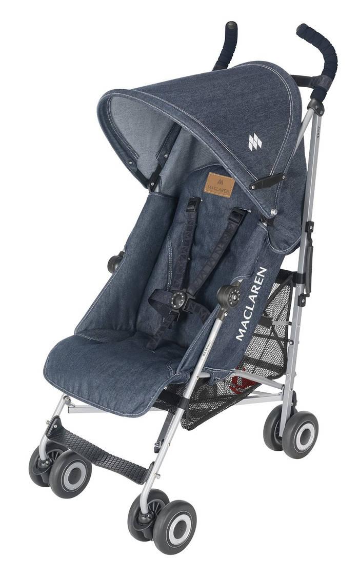 Maclaren Quest - Silla de paseo, diseño denim indigo