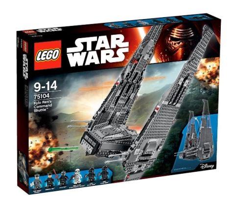 Mención especial: LEGO Star Wars - Nave de Combate de Kylo Ren, multicolor (75104)