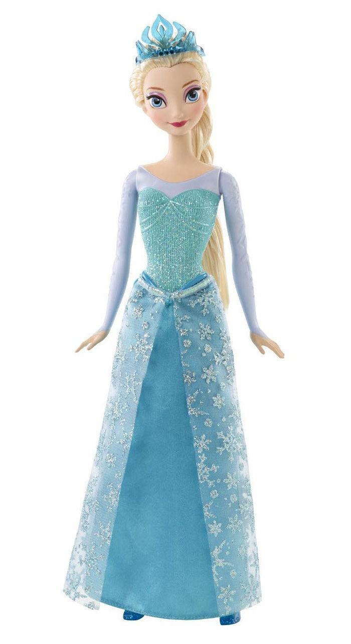Frozen - Muñeca Elsa con purpurina