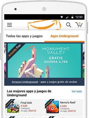 Amazon Underground para Android: más de 1000 juegos y aplicaciones gratis