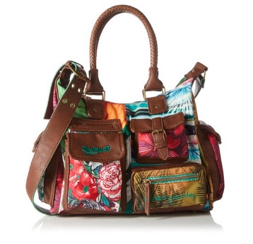 Desigual London Medium Mentawai - Bolso para mujer, color new green