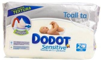 Dodot - Toallitas para piel sensible, sin perfume - 2 paquetes - 108 unidades