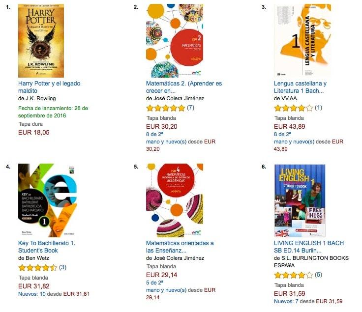 Libros más vendidos en Amazon España