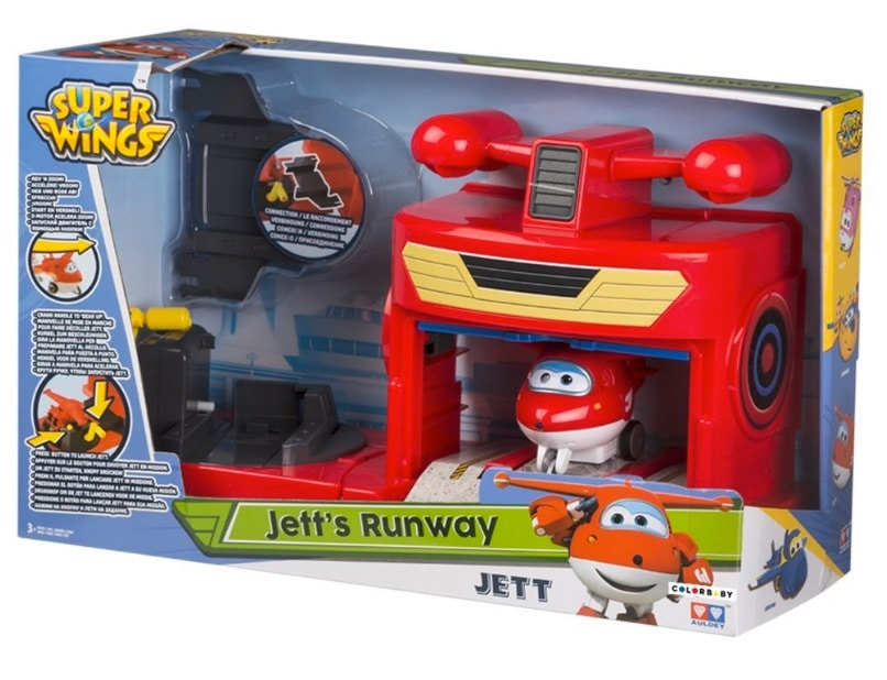 Super Wings - Pista de despegue & Jett