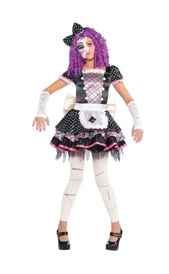 Amscan - Disfraz para niña con diseño muñeca de porcelana