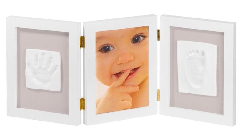 My Sweet Memories 34122003 - Marco triple para foto y 2 huellas de bebé
