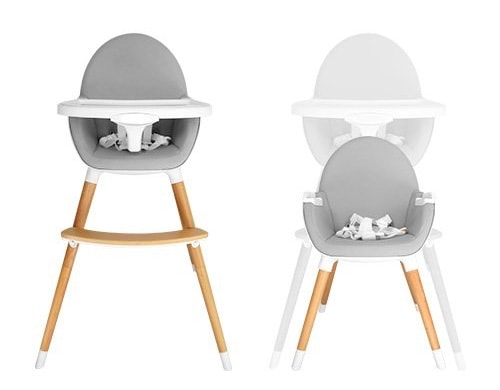 Trona recomendada:tar Ibaby Duo - Trona de bebés 2 en 1, convertible en sillita