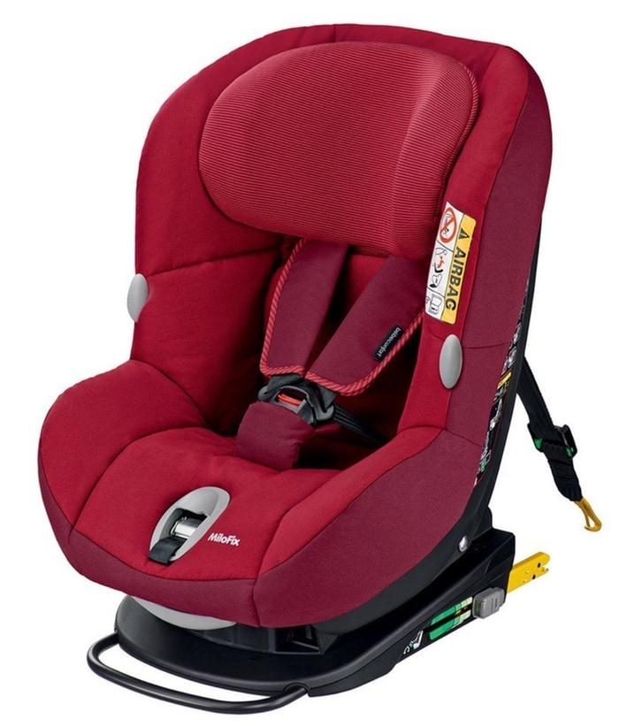 Bébé Confort Milofix - Silla de coche, grupo 0+/1, de 0-18 kg, color robin red