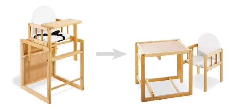 3 tronas de bebé baratas, de madera y convertibles