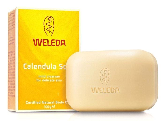 Jabón vegetal de caléndula para pieles delicadas y sensibles