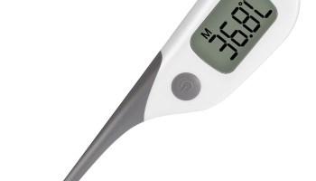 ¿Y si quiero un buen termómetro digital por contacto?ANKOVO Termómetro de contacto (rectal, oral y axila)