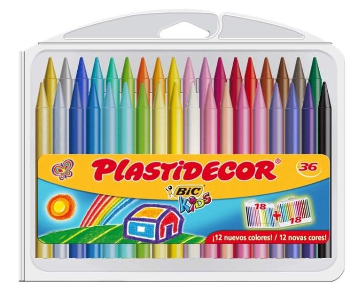 BIC Plastidecor - Estuche con 36 ceras